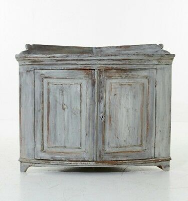 beautiful swedish gustavian 19th century corner cabinet