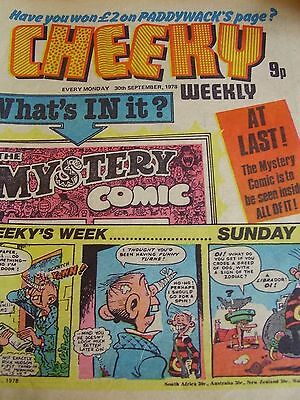 Cheeky Weekly 30Th September 1978