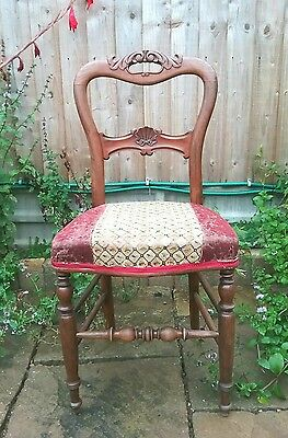 Vintage French mahogany upholstered chair