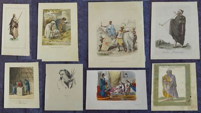 Cultures Africaines Collection 13 Mixed Lot Engravings ~ 19. Century  #b599