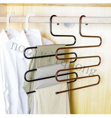 Durable Multi-Use S Type Hanger Multi Layers Storage Rack Closet Saver New