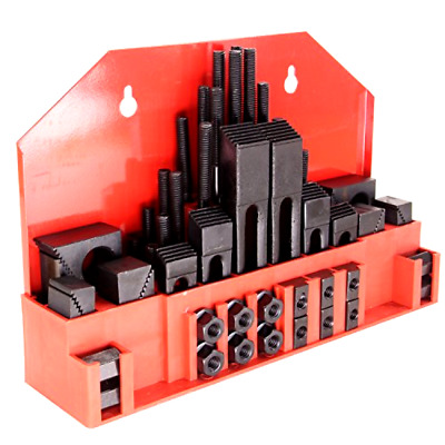 "58 Pc 5/8"" Slot 1/2"" Stud Hold down Clamp Clamping Set Kit for Bridgeport Mill"