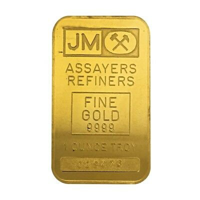 1 oz Johnson Matthey Gold Bar .9999 Fine (Secondary Market)