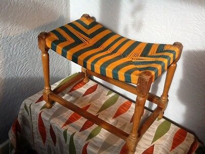 Lovely Vintage/Retro Beech Framed Stool  #3781