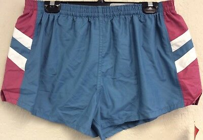 Catalina Mens Shorts Size 42 VINTAGE NWT Made In USA Lined Running Gym Blue 70's