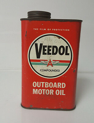 Veedol Outboard Motor Oil Can