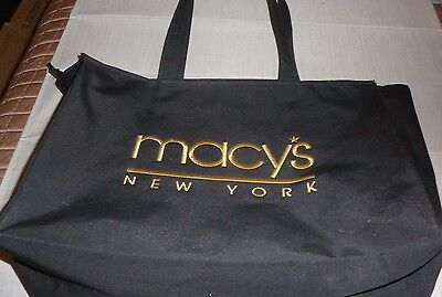 Macy's New York Shopper Tote Black Carry Bag