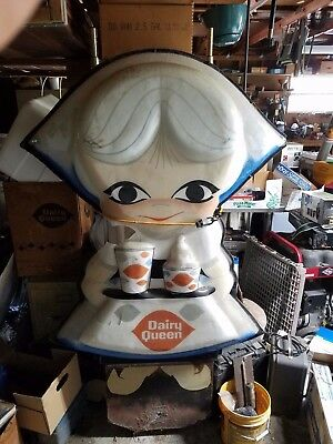 VINTAGE- original- Little Miss Dairy Queen Cupola sign