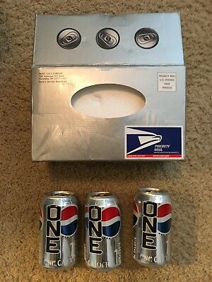 Pepsi One - Introductory Mailer And 3 Cans from 1999 - collectible