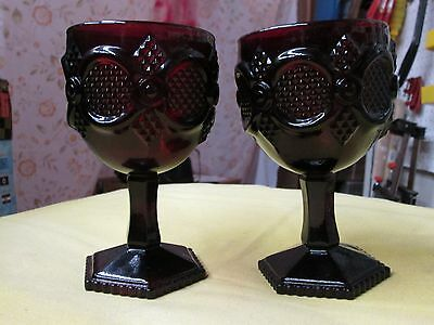 2 Vintage Avon Christmas Goblet Style Candle Holders!