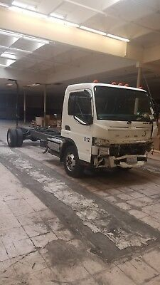 2012 Mitsubishi Fuso FE160 long base chassis box tow rollback flatbed truck 85K