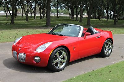 2006 Pontiac Solstice Convertible Perfect Carfax Leather Interior Chrome Wheels Great Service History