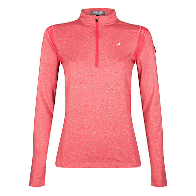 Euro-Star Polina Ladies Technical Shirt - China Red Melange: Large
