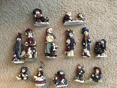 Boyds Bears And Friends Figurines - lot of 13. Winter themed.