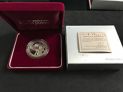 2002 Korea Japan- Fifa World Cup 10000 Won Silver Proof Series Ii  W/ Box & Coa