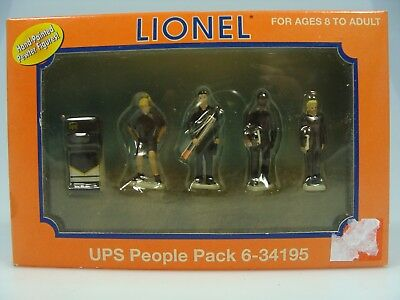Lionel UPS People O Scale, Hand Painted Pewter Figurines Train Layouts 6-34195