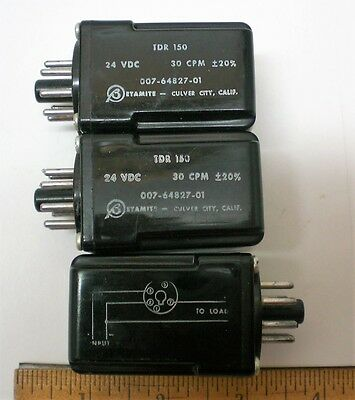 BETAMITE FLASHER, Lot of 3, 24V DC, 30 CPM Flasher for Indicator Lamps Made USA