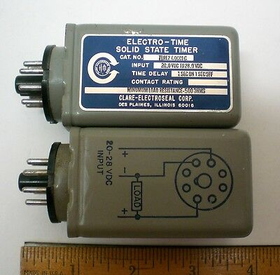 2 FLASHERS,  24V DC, 30 CPM Flasher for Indicator Lamps, CLARE,  Made in USA