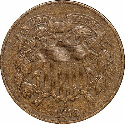 1872 Two Cent Piece, 2c, Nice VF, Very Fine, KEY DATE