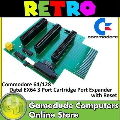 Commodore 64/128 Datel EX64 3 Port Cartridge Port Expander with Reset [03]