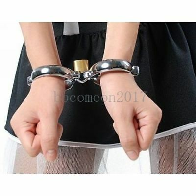 Stainless Steel Lockable Bondage Shackle Slave Hand-Ankle-Cuffs Restraint SM Toy