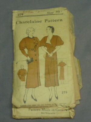 Chatelaine Pattern Ladies And Misses Size 40