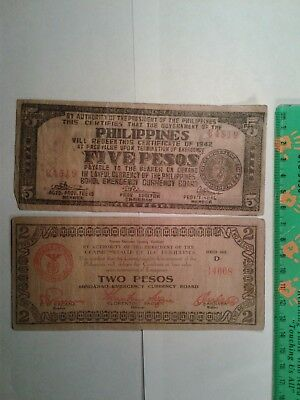 Lot Of 12 Philippines Guerilla Notes // Paper Money *