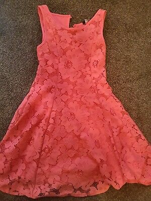 Girls Lovely Pink Dress age 12-13 Years Great Condition