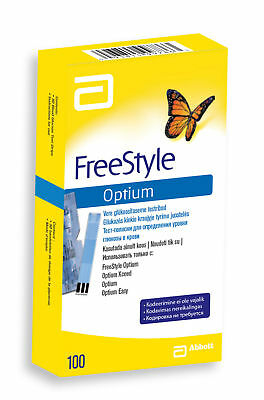 Abbott Freestyle Optium Glucose Test Strips NO CODING ::Choose quantity::