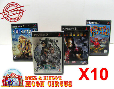 10X Sony Playstation Ps2 Cib Game - Clear Protective Box Protectors Sleeve Case