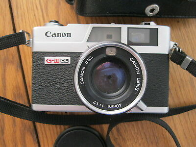 Canon Canonet QL17 camera w / leather case 1:1.7 40mm lens G-III QL