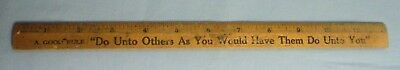 "Vintage Coca Cola Bottling Co. 12"" Ruler ""Do Unto To Others"""
