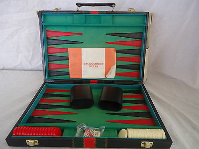 BACKGAMMON DELUXE Vintage/Retro CASE Cardboard Outer COMPLETE/INSTRUCTIONS #1046