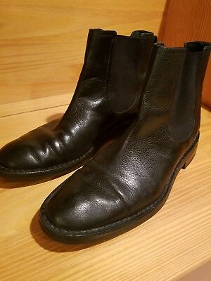 COLE HAAN - NIKE AIR Chelsea Black Leather Boots Men's 9M