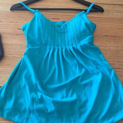 Lorna Jane Padded Exercise Top- Size S- Gorgeous Teal- Only Worn Twice