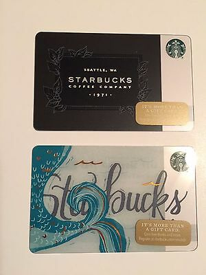 Set of 2 Starbucks Collectible Gift Cards - NEW - Unused - Free US Shipping