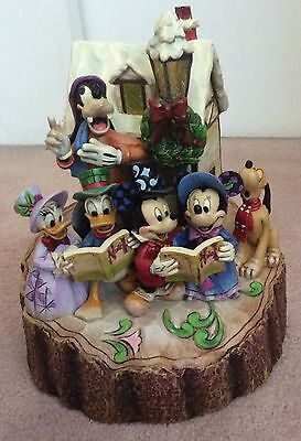 Jim Shore Disney Holiday Harmony Caroling Carved by Heart SIGNED by Jim Shore