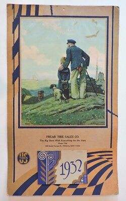 Vintage Norman Rockwell 1932 Us Tires Ithaca Advertising Calendar Stay At Homes