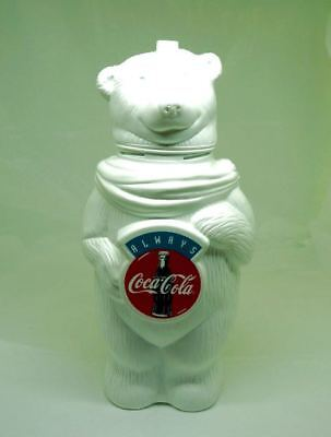"Coca Cola; Bear; Plastic Advertising Cup; 9""h x 5""w; Always Coca Cola !!!"