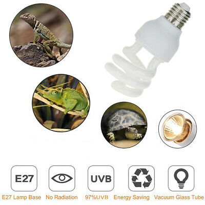 Reptile-Plant E27 220V UVB Tropical Terrarium Lamp 5.0 10.0 13W Screw Bulb NEW