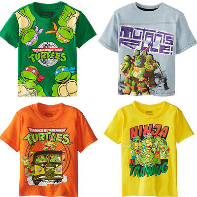 TMNT Teenage Mutant Ninja Turtles Baby Kid Boys Cartoon Tops T-shirt Blouse 2~7Y