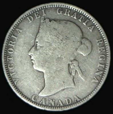 1882-H Canada Silver 25 Cents VG