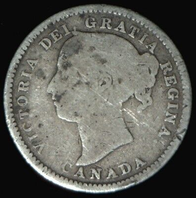 1887 Canada Silver 10 Cents G