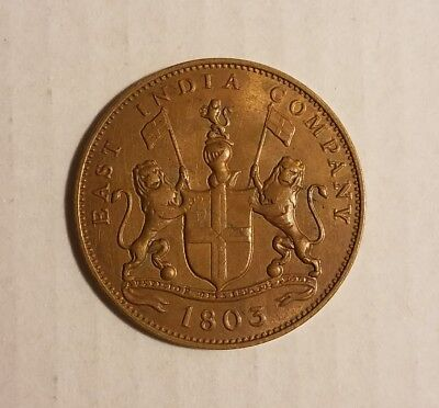 1803 East India Company 20 Cash Coin