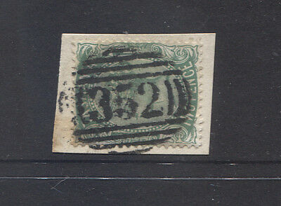 TASMANIA bold strike of BN352 cancel used at CLAREMONT on a 2d QV franked piece