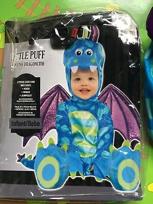 Used lil' Puff Dragon Baby/toddler Costume Size 4-6 Months/ Fit 12 Month Child!!