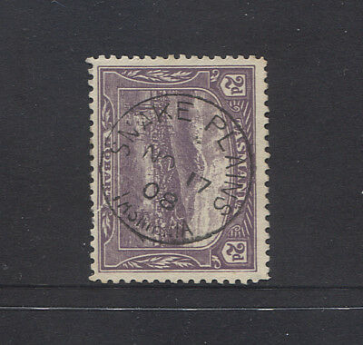 TASMANIA  1908: full example of SNAKE PLAINS Type 1b(x) cds - rated S(5*)