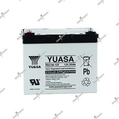 Battery fire and security cyclic rechargeable YUASA REC36-12 12V 36AH
