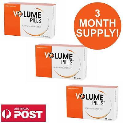 VOLUME PILLS Mens Sexual Enhancement Pills Increases Sperm More Semen 180PK AUS