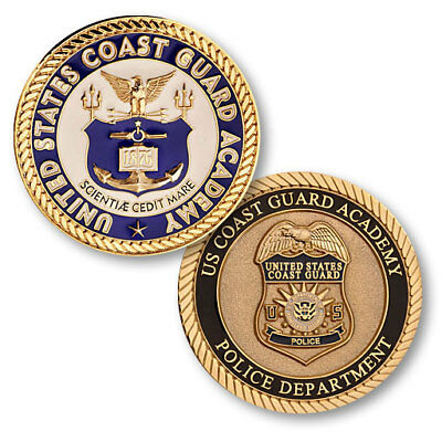 US Coast Guard Academy Police Department Challenge Coin USCG New London Security